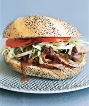 Pork Tenderloin Sandwiches With Cilantro Slaw