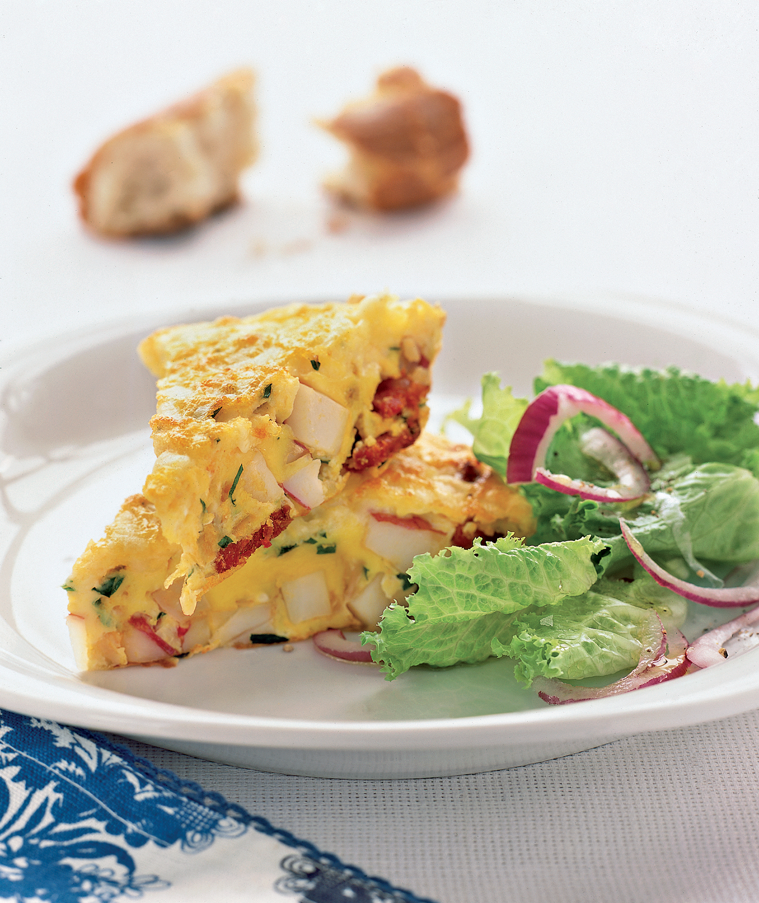 20 fast dinner recipes real simple spanish omelet with potatoes and chorizo forumfinder Images