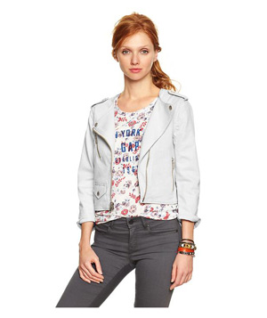 Gap 1969 Collarless Biker Jacket
