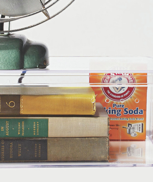 Books and baking soda