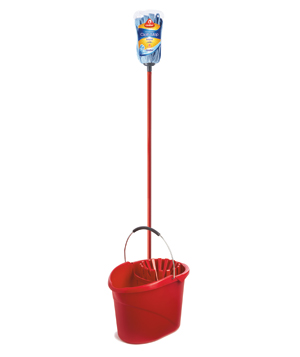 O-Cedar Microfiber-Cloth Mop and Quick-Wring Bucket