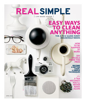 Real Simple April 2014 Cover (white)