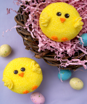 Easter Chick Cupcakes From Bird on a Cake
