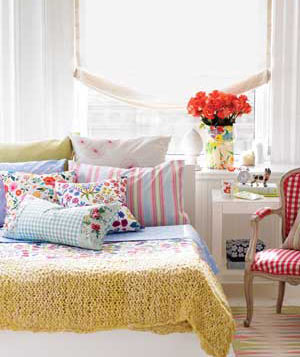 Bed Covered With Pillows