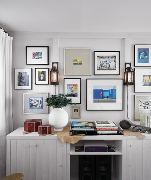 styles of home decor. Wall with gallery style framed art 10 DIY Home Decor Tricks  Real Simple