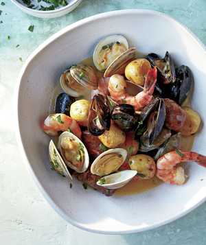 Clone of Sheet-Pan Clambake With Mussels, Shrimp, and Chorizo