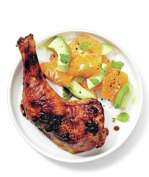 Glazed Chicken With Citrus Salad