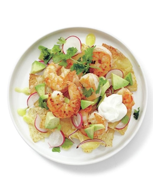 Shrimp and Avocado Nachos