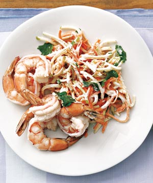 Shrimp With Carrot Slaw