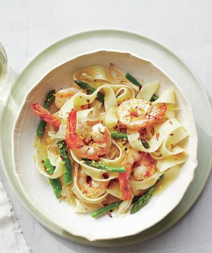 Pappardelle With Shrimp and Asparagus