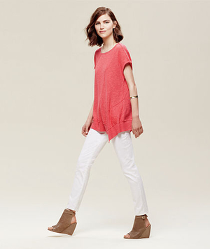 Organic Linen & Cotton Top & Ankle Jeans