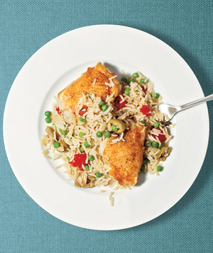 Chicken and Rice With Peas