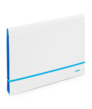 White + Pool Blue Accordion File
