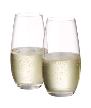 """O"" Champagne Glasses"