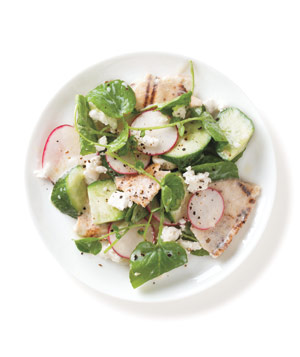 Pita, Radish, Cucumber, and Feta Salad
