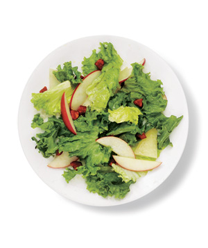 Green Leaf, Chorizo, and Apple Salad