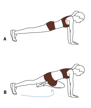 Illo: cross-body plank
