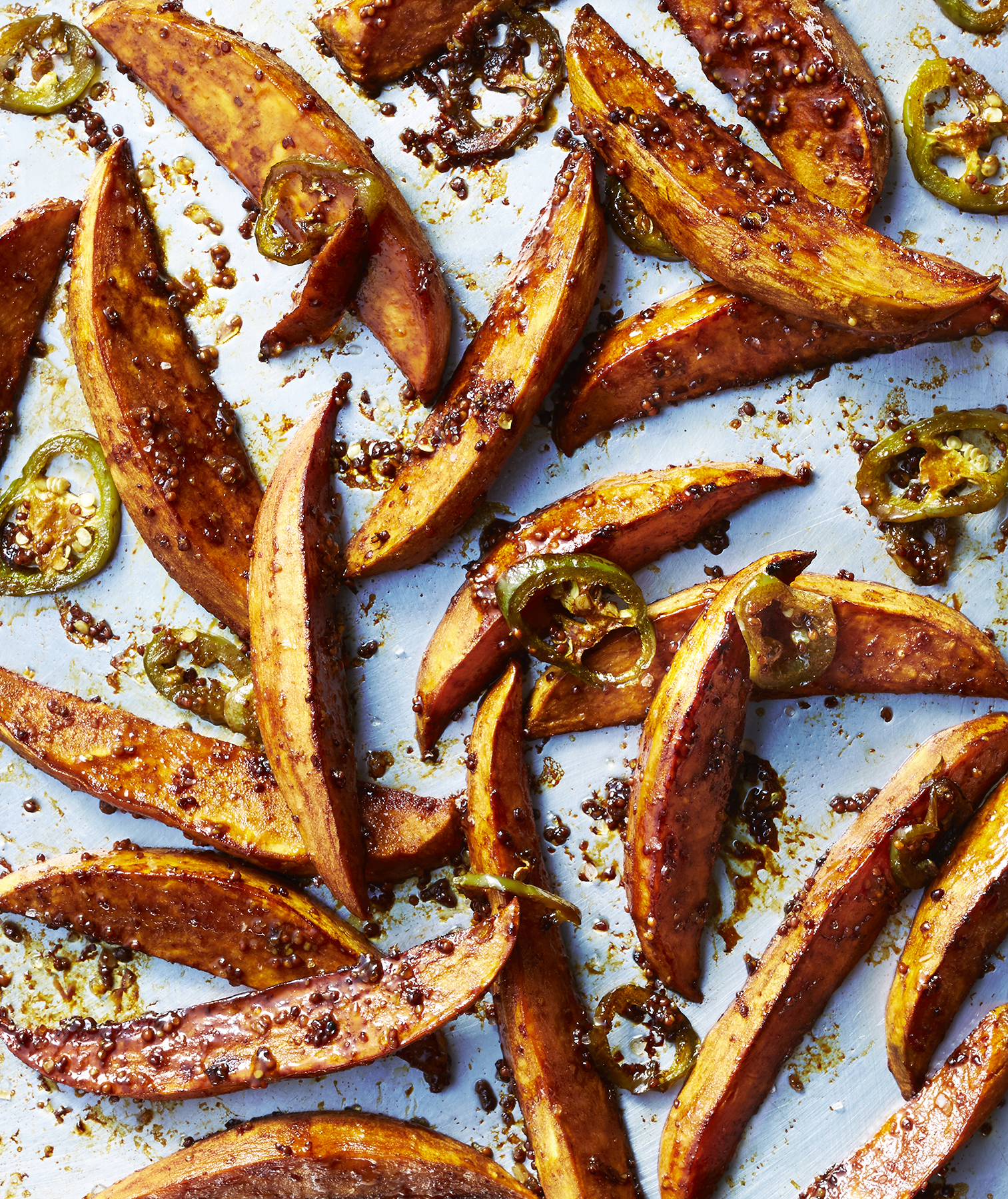Simple Roasted Sweet Potatoes: Molasses-and-Chile Roasted Sweet Potatoes Recipe