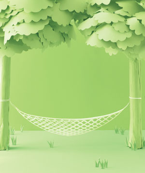 Paper construction of hammock by Matthew Sporzynski