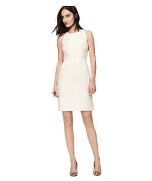 Loft Embroidered Linen Cotton Dress