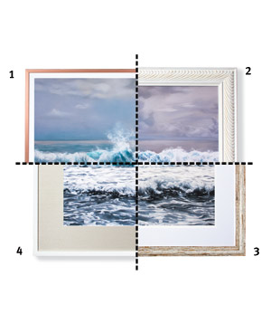 Frames for a soft nature scene