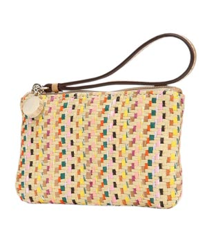 Loft Multicolored Straw Mini Pouch