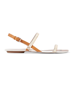 Zara Flat Sandals With Metallic Straps