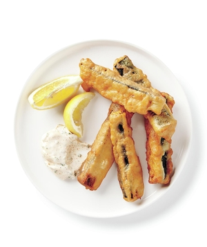 Fried Zucchini With Chive Mayo