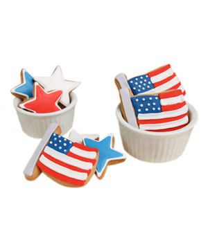 Stars and Stripes Cookie Gift Box