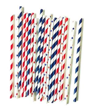 Stars and Stripes Straw Mix
