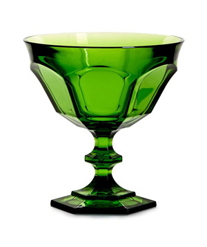 Acrylic Victoria & Albert Green Footed Coupe