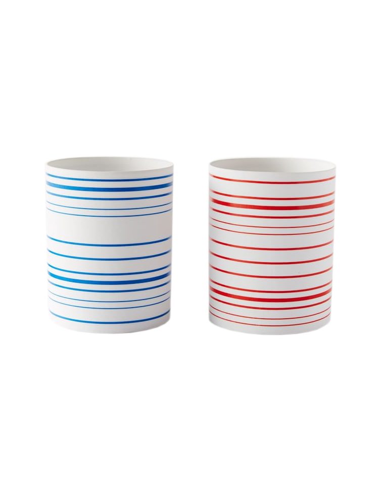 <p>Color Stripe Porcelain Hurricanes</p>