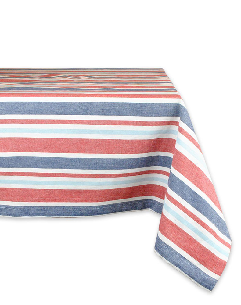 <p>Patriotic Stripe Tablecloth</p>