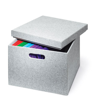 Gray Felt File Box