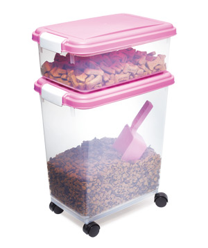 Iris Three-Piece Airtight Pet-Food Container