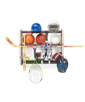 Wall-Mounted Sports-Gear Rack