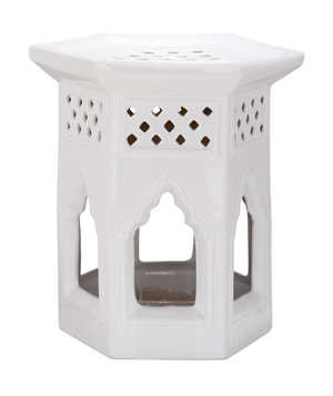 Safavieh White Ceramic Round Chinese Garden Stool