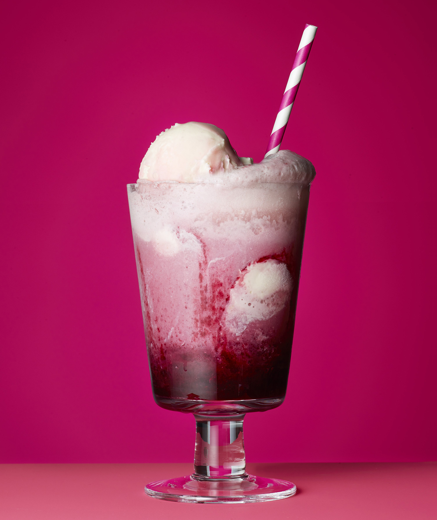 Blackberry Ginger Ice Cream Float