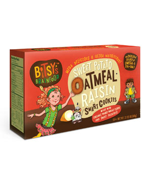 Bitsy's Brainfood Sweet Potato Oatmeal Raisin Smart Cookies