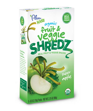 Plum Kids organic Fruit & Veggie Shredz – Super Apple