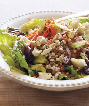 Barley and Lentil Salad With Goat Cheese