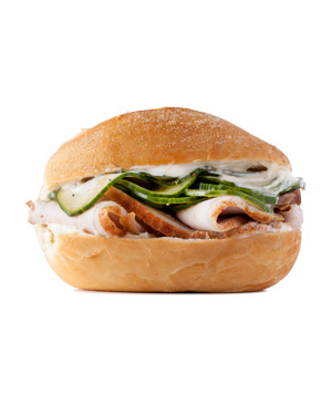 Roast Pork and Pickled Cucumber Sandwich