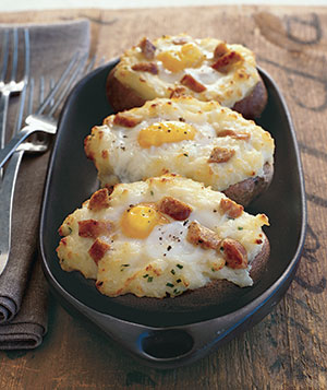 Baked-Potato Eggs