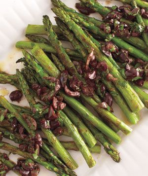 Roasted Asparagus With Olive Vinaigrette