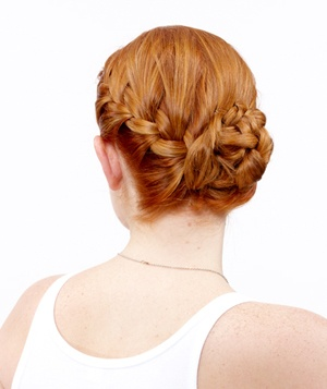 How to do a side french braid bun real simple the side french braid bun ccuart Images