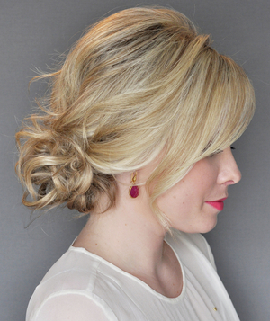 Finished Side Updo With a Twist by Kate Bryan
