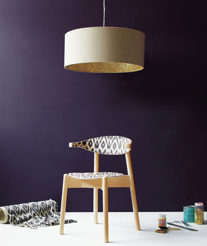 DIY chair and pendant lamp