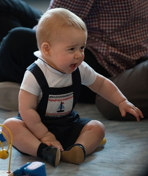 Prince George in sailboat romper