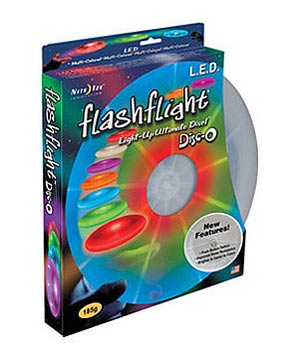 NIGHT IZE Flashflight LED Light-Up Flying Disc