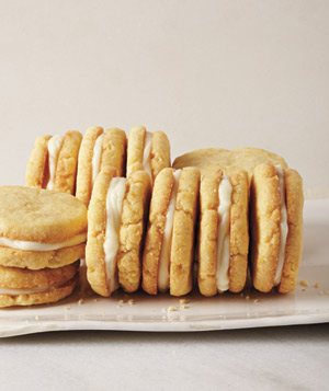 Lemon Cornmeal Sandwich Cookies